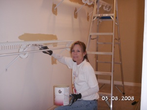 Painting the closet